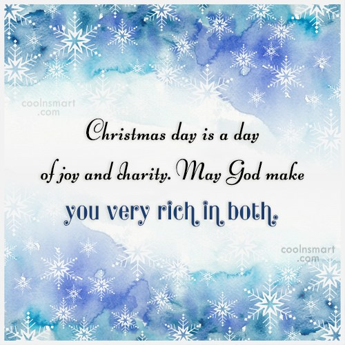 Christmas Quote: Christmas day is a day of joy...