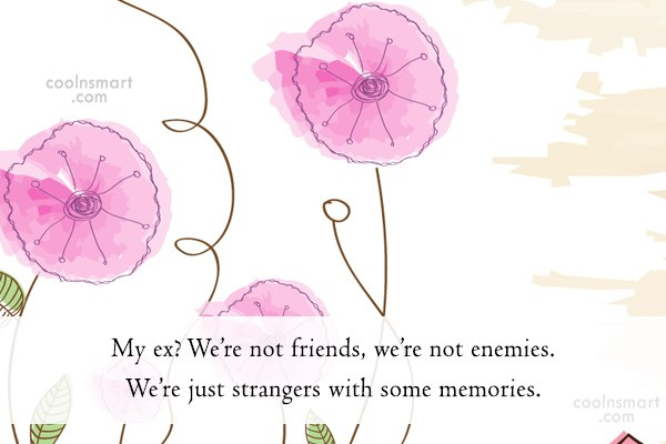 Ex Quote: My ex? We're not friends, we're not...