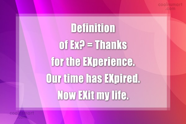 Ex Quote: Definition of Ex? = Thanks for the...