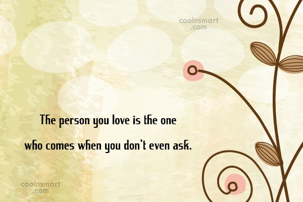 Perfection Quote: The person you love is the one...