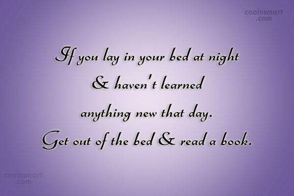 Book Quote: If you lay in your bed at...