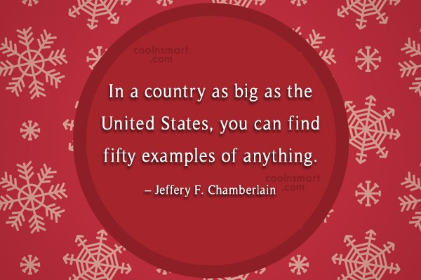 America Quote: In a country as big as the...