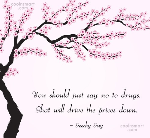 Drugs Quote: You should just say no to drugs....
