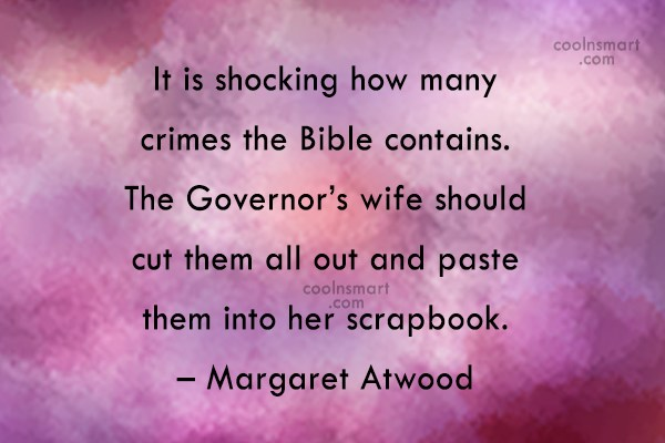 Quote: It is shocking how many crimes the...