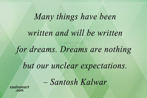Quote: Many things have been written and will...