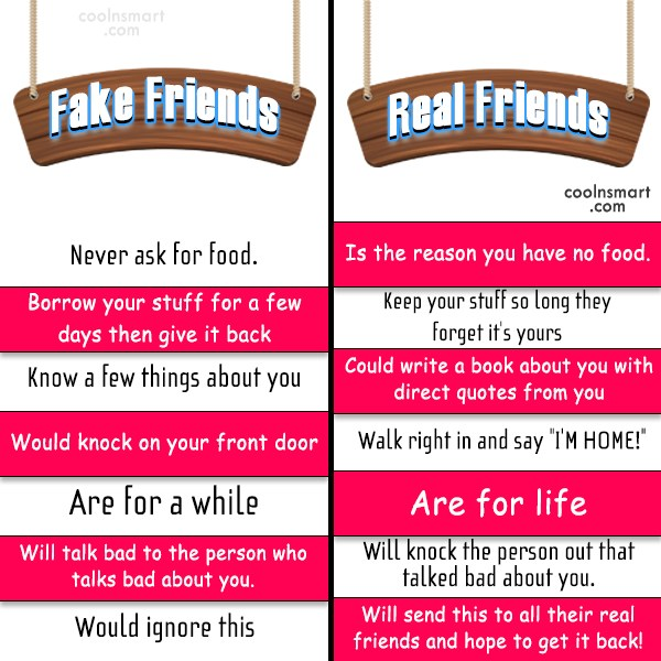 Best Friend Quote: Fake Friends: Never ask for food. Real...