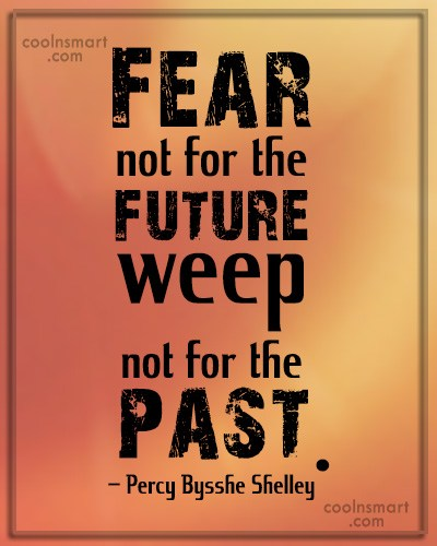 Quote: Fear not for the future, weep not...