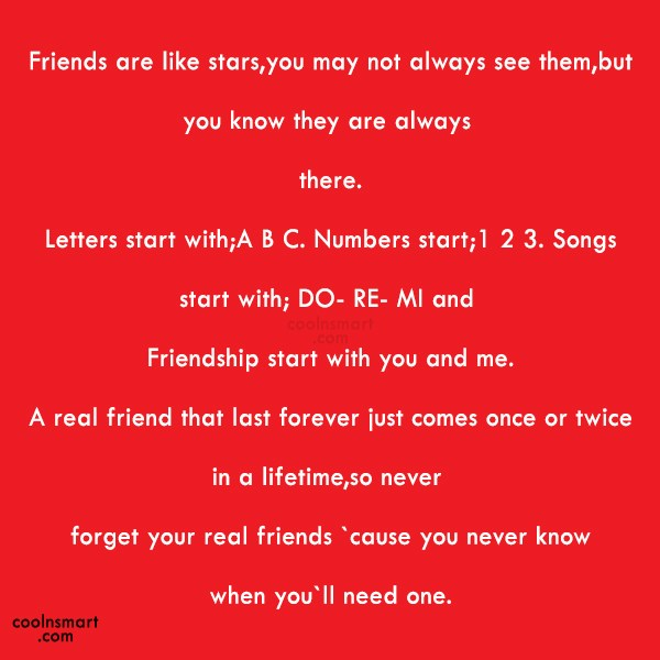 Best Friend Quote: Friends are like stars,you may not always...