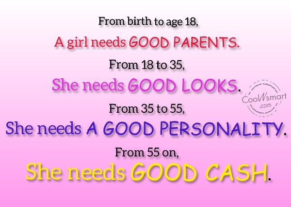 Age Quote: From birth to age 18, a girl...