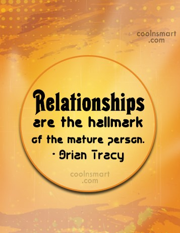 Quotes about mature relationships