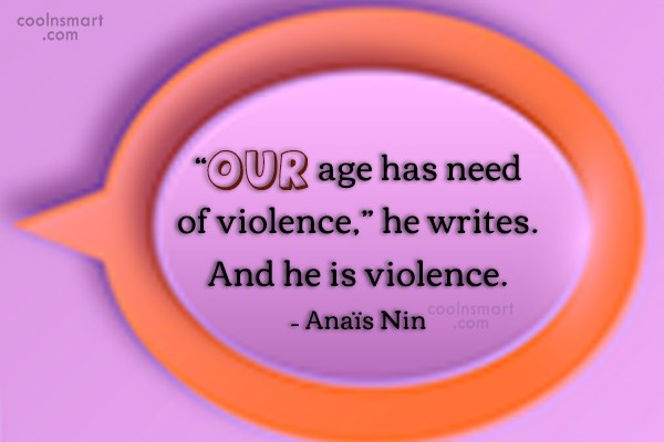 """Quote: """"Our age has need of violence,"""" he..."""