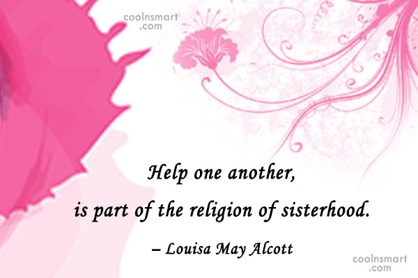Quote: Help one another, is part of the...