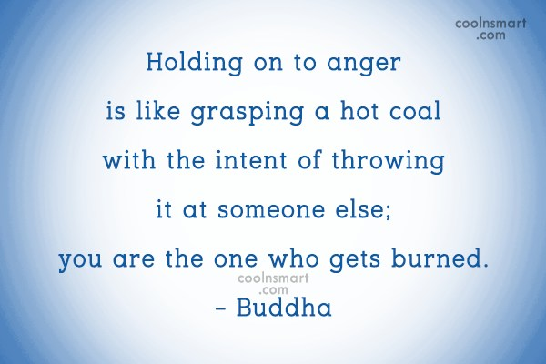 Quote: Holding on to anger is like grasping...