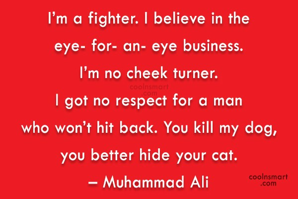 Revenge Quote: I'm a fighter. I believe in the...