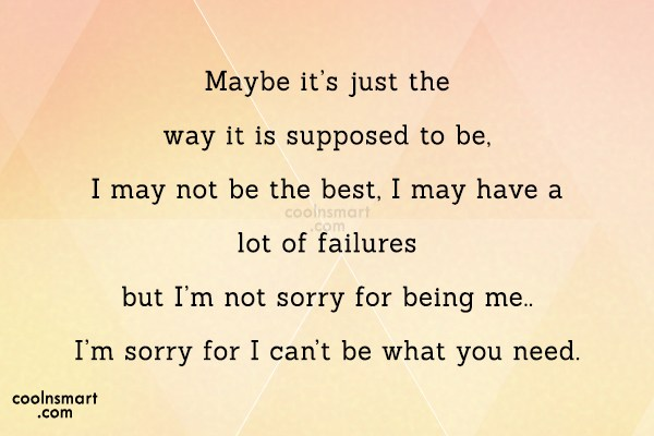 Quote: Maybe it's just the way it is...
