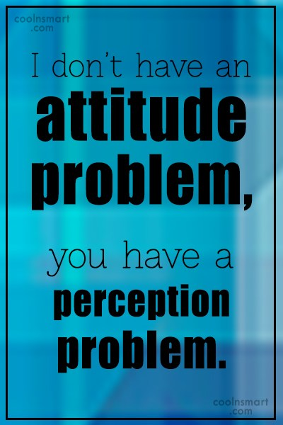 Witty Quote: I don't have an attitude problem, you...