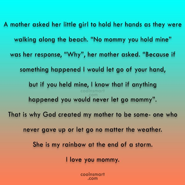 Mother Quote: A mother asked her little girl to...