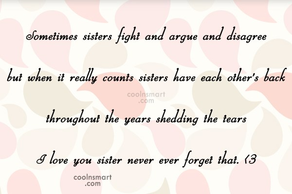Sister Quotes And Sayings For Sisters Images Pictures Coolnsmart