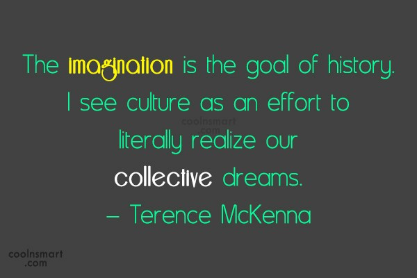 Imagination Quote: The imagination is the goal of history....