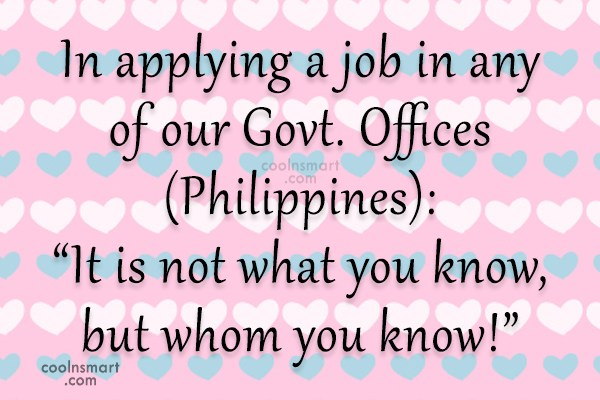 Job Quote: In applying a job in any of...