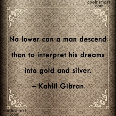 Quote: No lower can a man descend than...