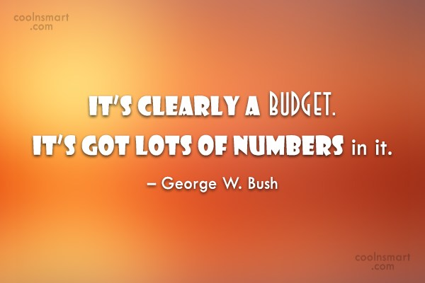Quote: It's clearly a budget. It's got lots...