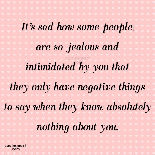 Jealousy Quotes, Sayings about haters - Images, Pictures - CoolNSmart