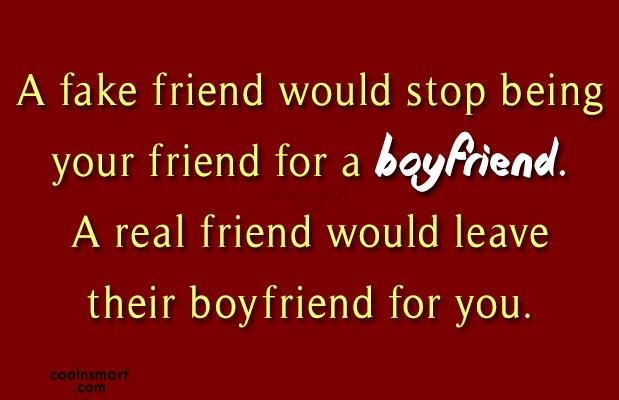 Best Friend Quote: A fake friend would stop being your...