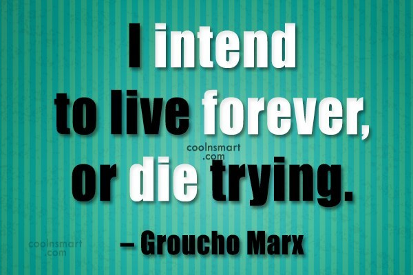 Facebook Status Quote: I intend to live forever, or die...