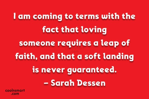 Quote: I am coming to terms with the...