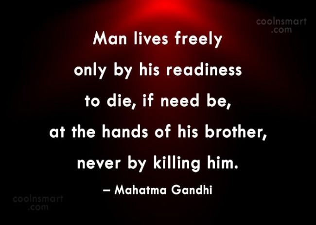 Quote: Man lives freely only by his readiness...