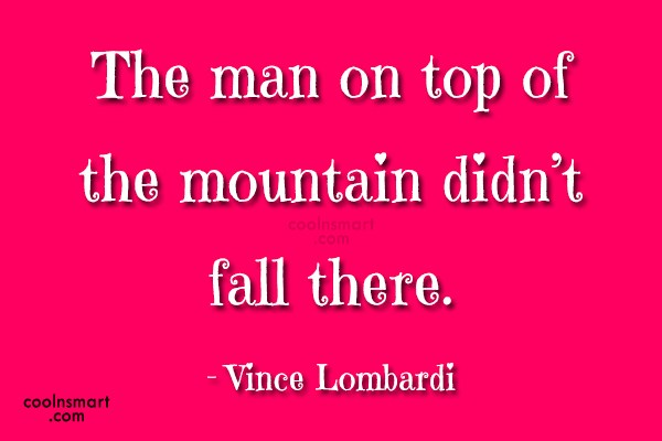 Quote: The man on top of the mountain...