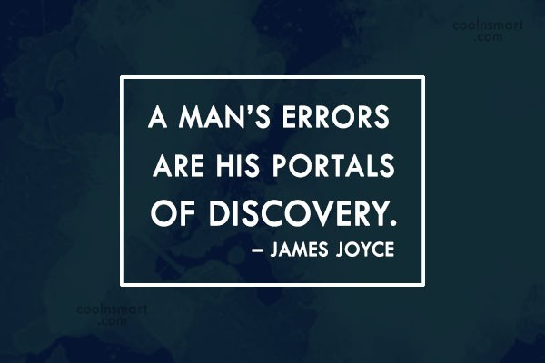 Quote: A man's errors are his portals of... - CoolNsmart.com