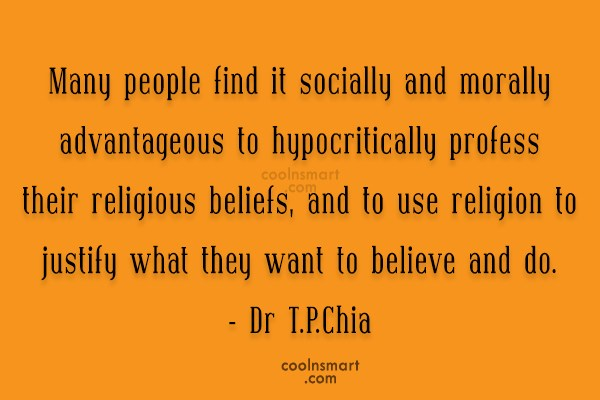 Religion Quote: Many people find it socially and morally...