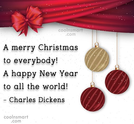 Christmas Quote: A merry Christmas to everybody! A happy...