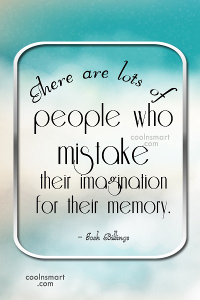Quote: There are lots of people who mistake...