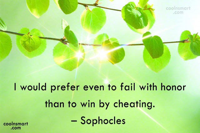 Quote: I would prefer even to fail with...