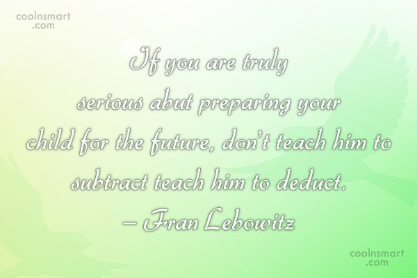 Future Quote: If you are truly serious abut preparing...