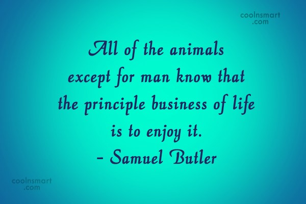 Pets Quote: All of the animals except for man...