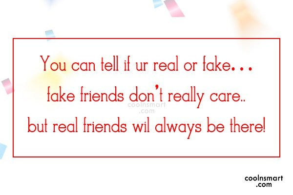 Best Friend Quote: You can tell if ur real or...