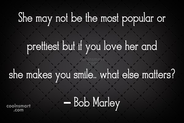 Quote: She may not be the most popular...