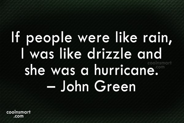 Quote: If people were like rain, I was... - CoolNsmart.com