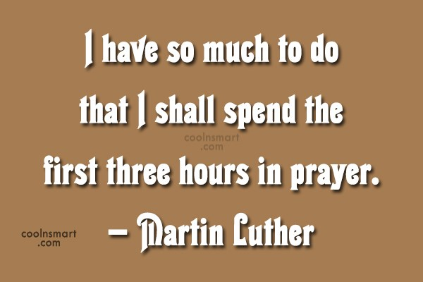 Quote: I have so much to do that...