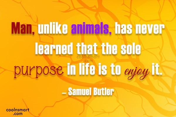 Quote: Man, unlike animals, has never learned that...