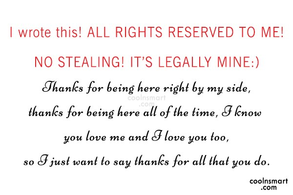 Quote: I wrote this! ALL RIGHTS RESERVED TO...