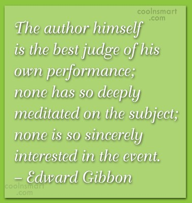 Quote: The author himself is the best judge...