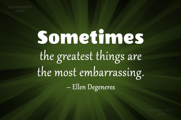 Quote: Sometimes the greatest things are the most...