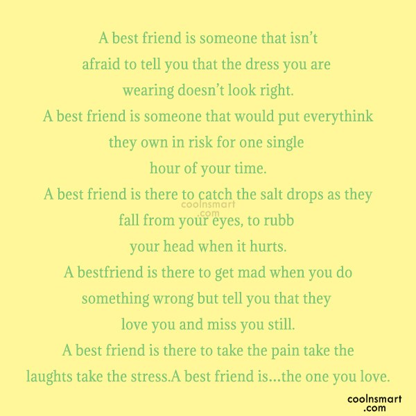 Best Friend Quote: A best friend is someone that isn't...