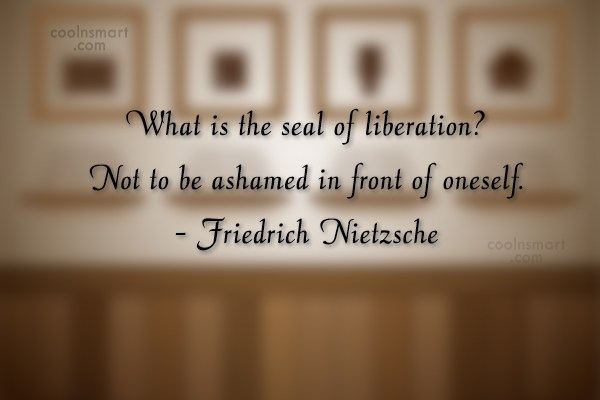 Quote: What is the seal of liberation? Not...