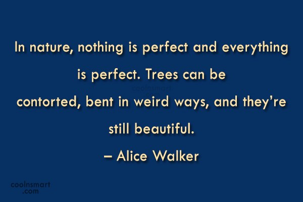 Nature Quote: In nature, nothing is perfect and everything...